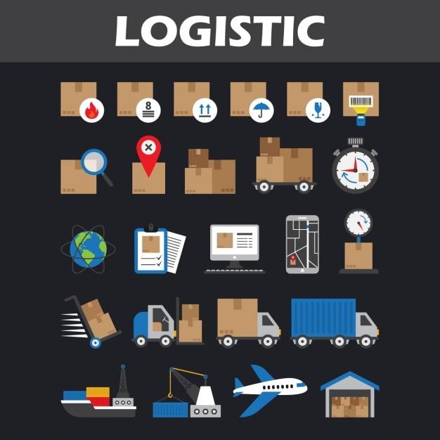 Logistik ikonen sammlung download der kostenlosen vektor for Meine wohnung click design download