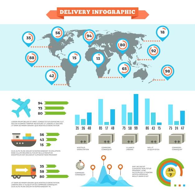 Logistik Lieferung Versand Premium Vektoren