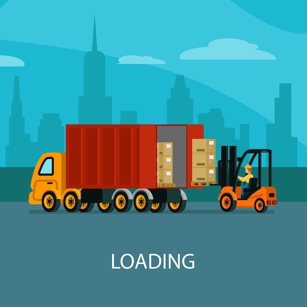 Logistiklager Kostenlosen Vektoren