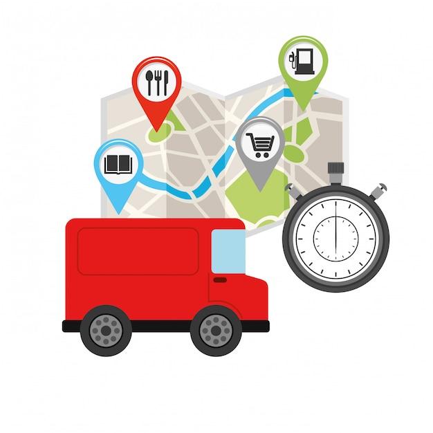Logistisches weltweites konzept Premium Vektoren