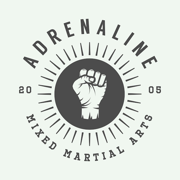 Logo der gemischten kampfkunst Premium Vektoren
