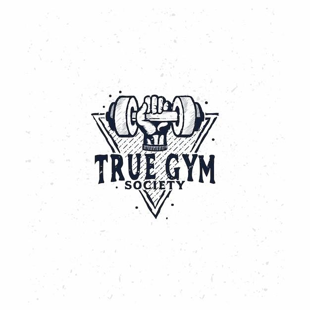 Logo der turnhalle Premium Vektoren