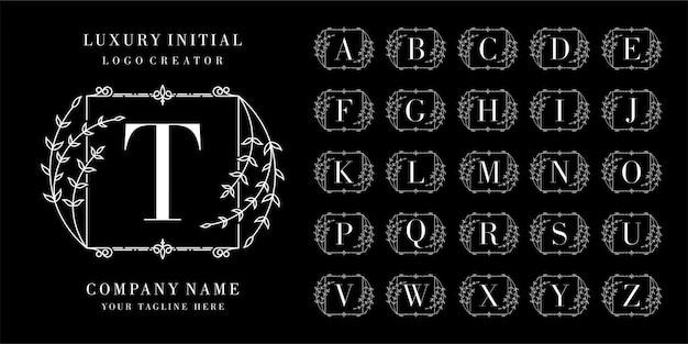 Logo-design der ersten kollektion Premium Vektoren