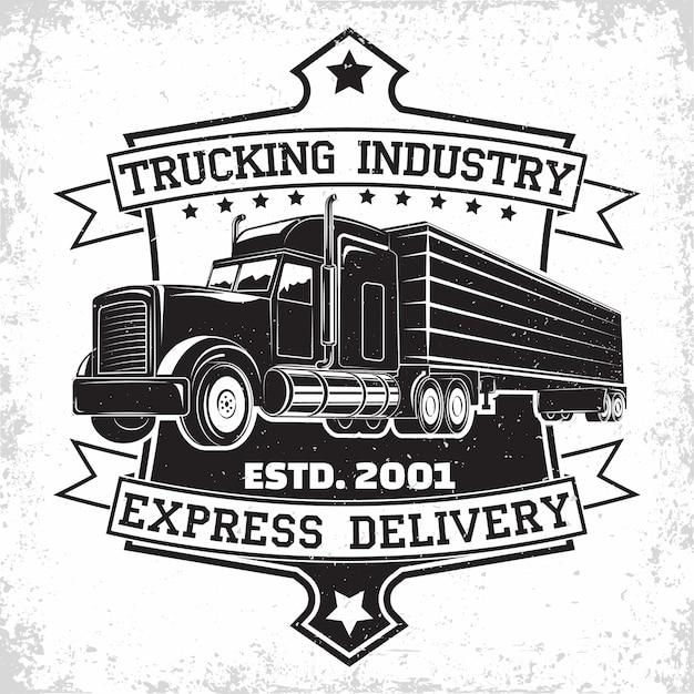 Logo-design der spedition Premium Vektoren