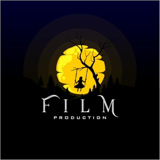 Logo-design für die filmproduktion Premium Vektoren