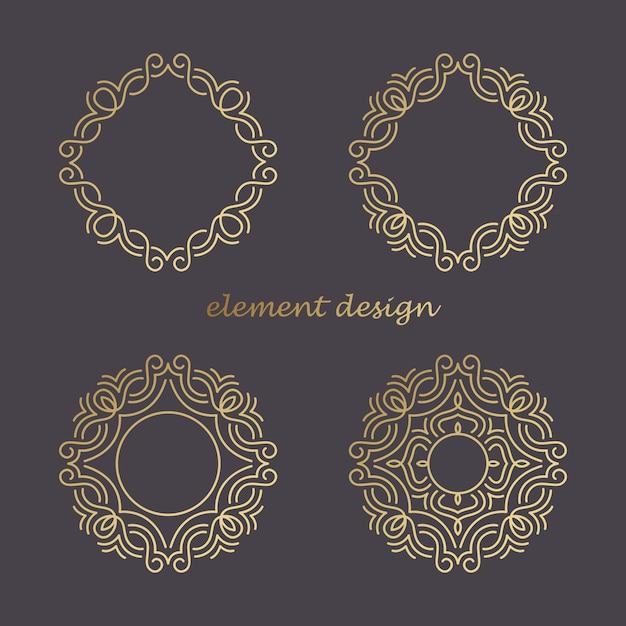 Logo-elemente. Premium Vektoren