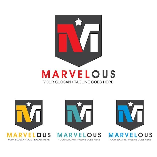 Logo-entwurfsvorlage des buchstaben m Premium Vektoren
