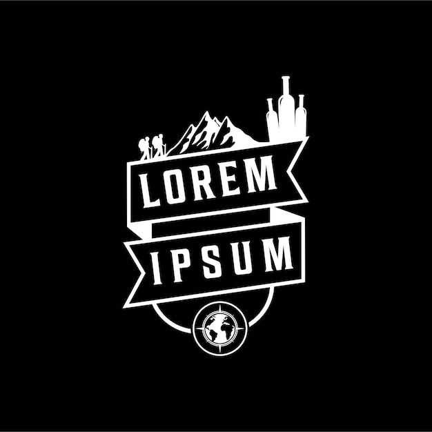 Logo für den klettersport Premium Vektoren