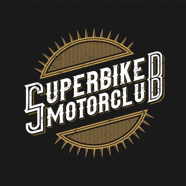 Logo für die motorradgemeinschaft oder motorradwerkstatt Premium Vektoren