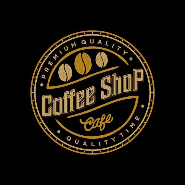 Logo für kaffee- und lebensmittel-getränkekennsatz Premium Vektoren