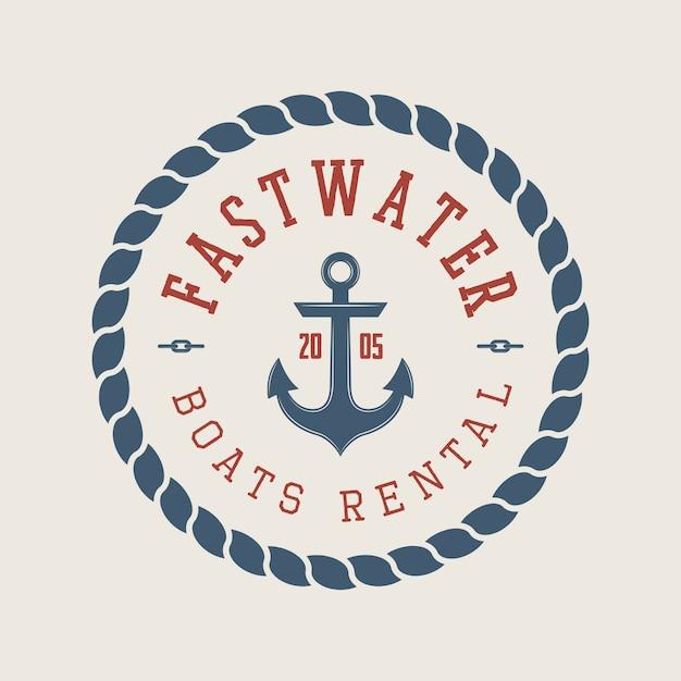 Logo für rafting oder bootsverleih Premium Vektoren