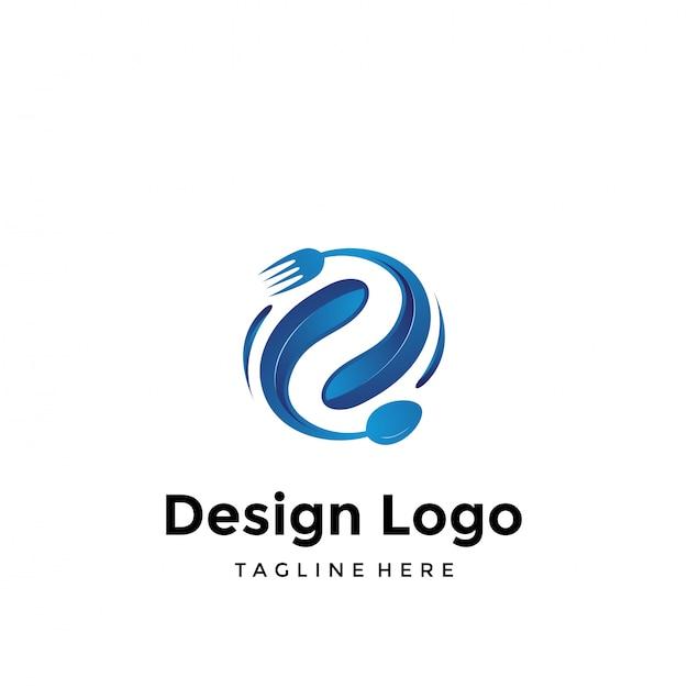 Logo für speisen und getränke Premium Vektoren