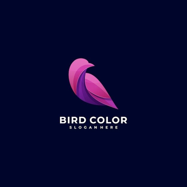 Logo illustration bird bunter stil. Premium Vektoren