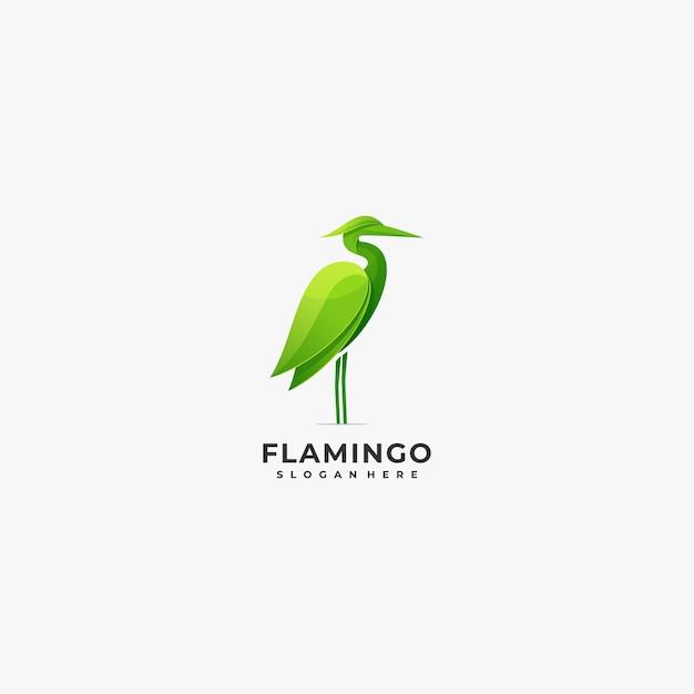 Logo illustration flamingo bunter stil. Premium Vektoren