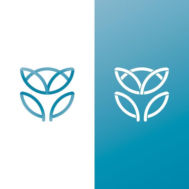 Logo im abstrakten stil in zwei versionen Premium Vektoren