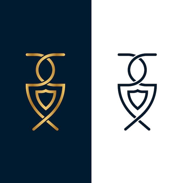 Logo in zwei versionen konzept Kostenlosen Vektoren