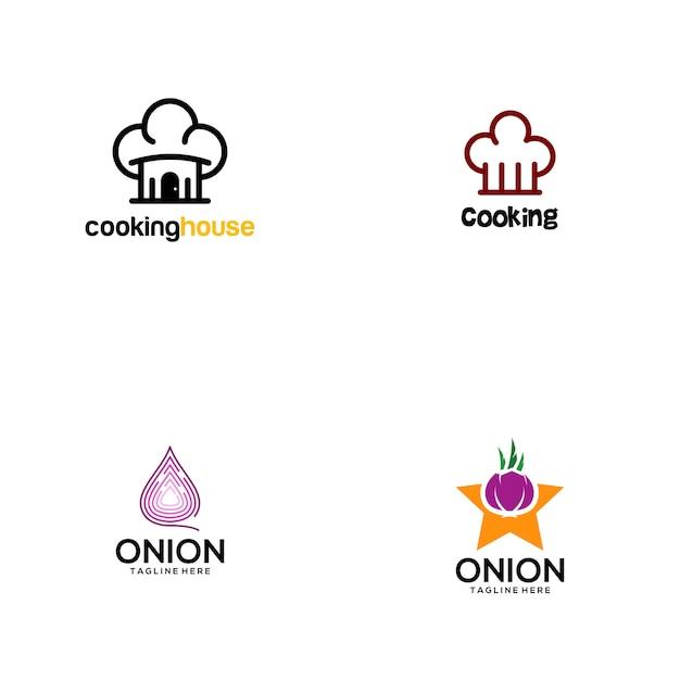 Logo kochen Premium Vektoren