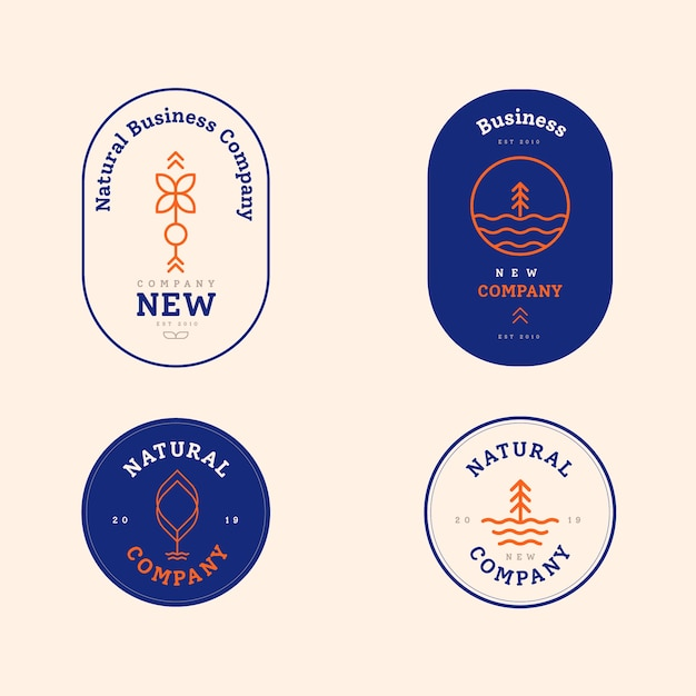 Logo-kollektion in zwei farben Kostenlosen Vektoren