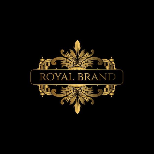 Logo luxury mit goldener farbe Premium Vektoren