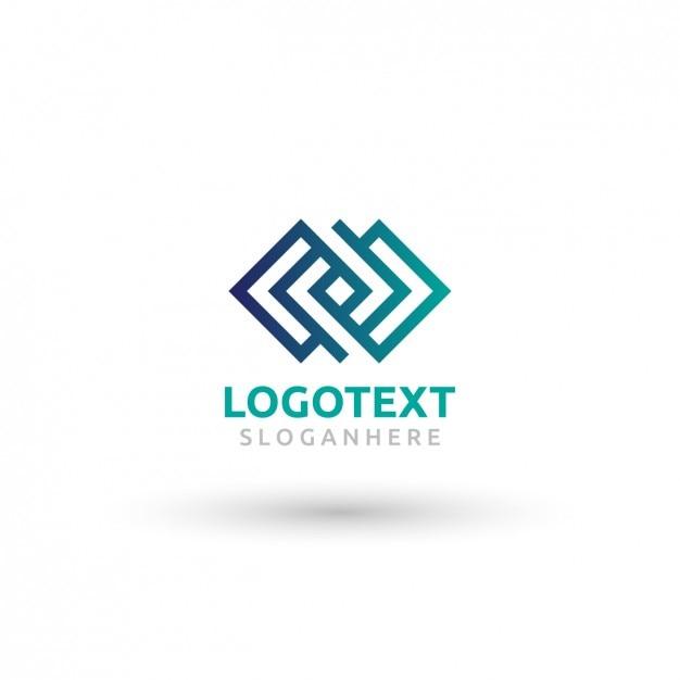 Logo mit abstrakten skizzierte form gemacht Kostenlosen Vektoren
