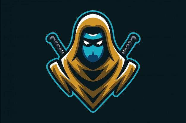 Logo ninja assasin Premium Vektoren