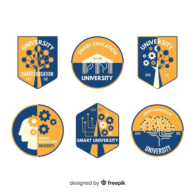 Logo-Sammlung der Universität Kostenlose Vektoren