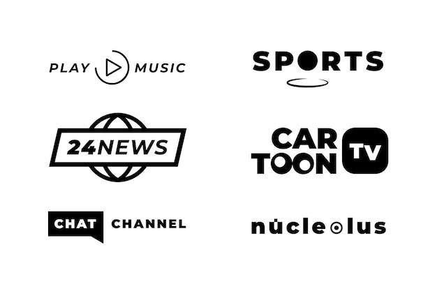 Logo-sammlung im news-stil Kostenlosen Vektoren