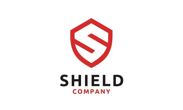 Logo shield / sicher / sicher mit initial s Premium Vektoren
