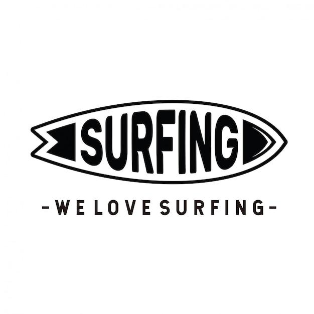 Logo surfen Premium Vektoren