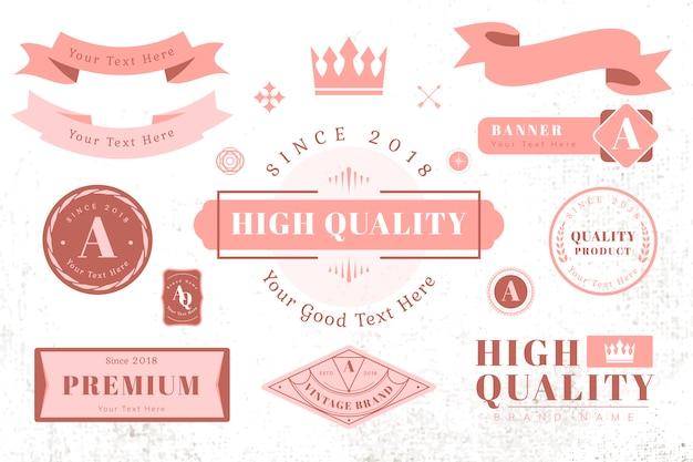 Logo- und bannergestaltungselemente Kostenlosen Vektoren