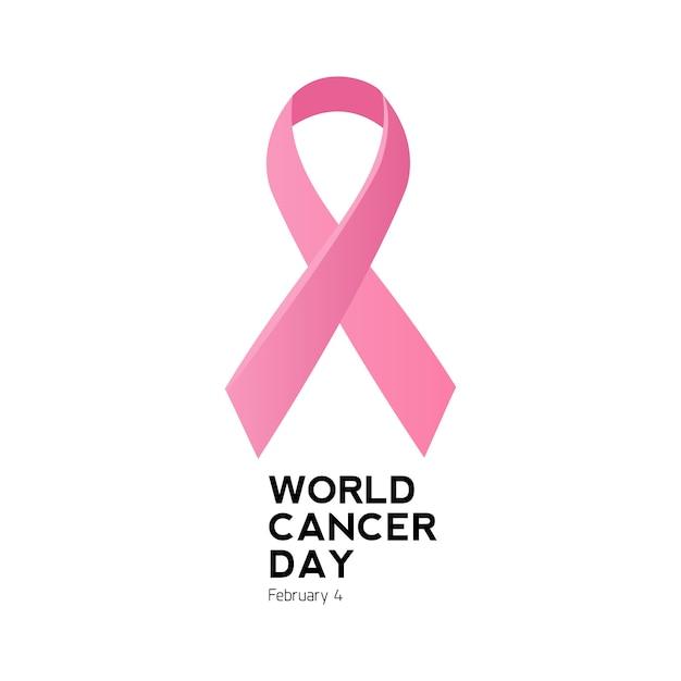 Logo und symbol des world cancer day Premium Vektoren