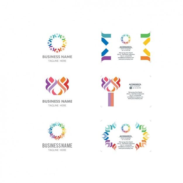 Logo Und Visitenkarten Vorlagen Sammlung Kostenlose Vektor