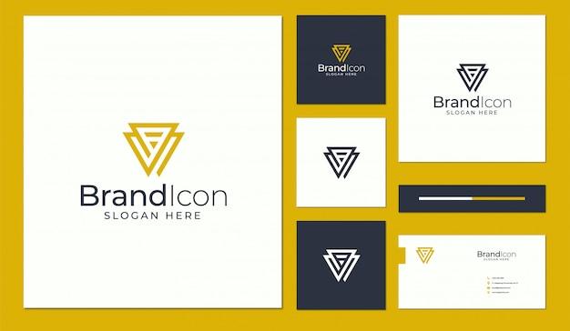 Logo- und visitenkartenentwurf Premium Vektoren