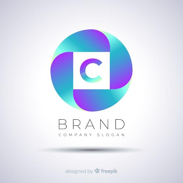 Logo vorlage farbverlauf abstrakt kugelförmig Kostenlosen Vektoren