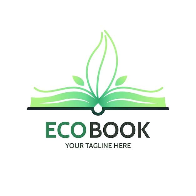 Logo-vorlage für farbverlaufsbücher Kostenlosen Vektoren