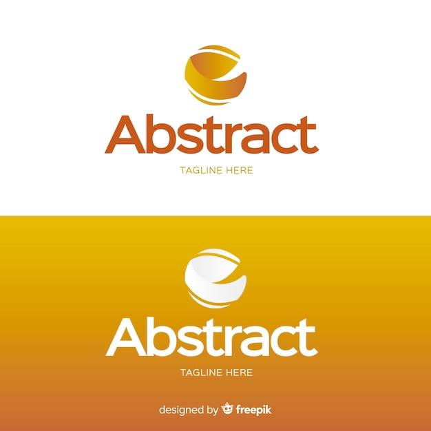 Logo vorlage für hellen und dunklen hintergrund Kostenlosen Vektoren