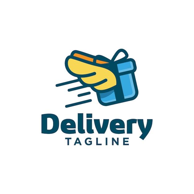 Logo vorlage für lieferung Premium Vektoren