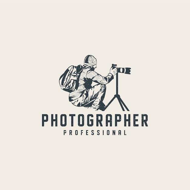 Logo-vorlage für professionelle fotografen Premium Vektoren