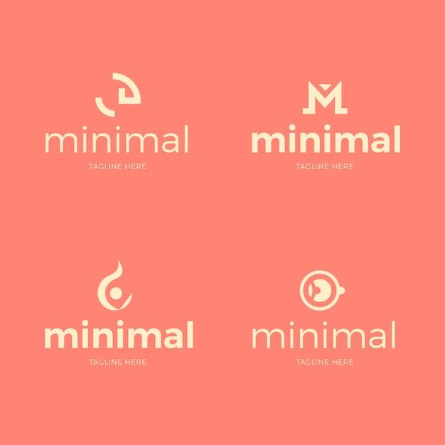 Logo vorlage minimaler satz Kostenlosen Vektoren