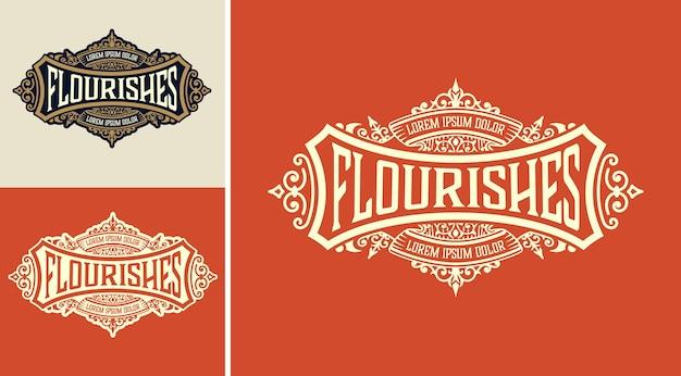 Logo-vorlage mit detailliertem design Premium Vektoren