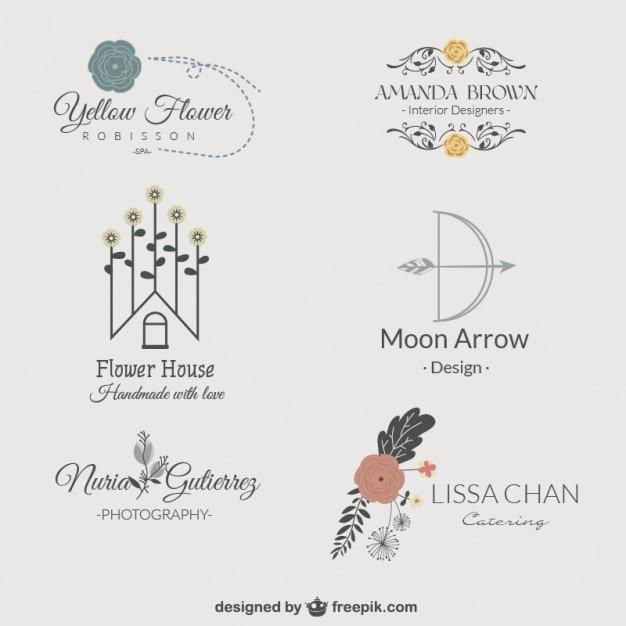 Logos floral pack Kostenlosen Vektoren