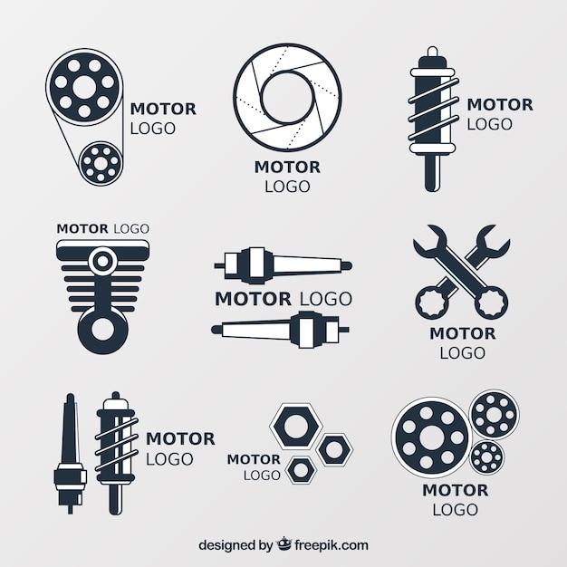 Logos für kfz-werkstätten Kostenlosen Vektoren