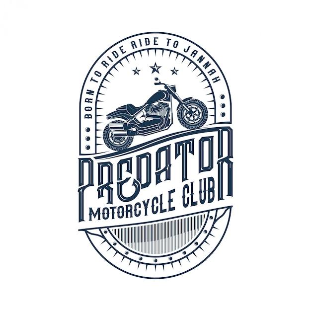 Logos für motorräder, werkstätten und custom Premium Vektoren