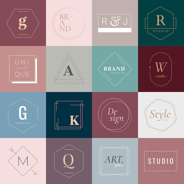 Logos und abzeichen Kostenlosen Vektoren