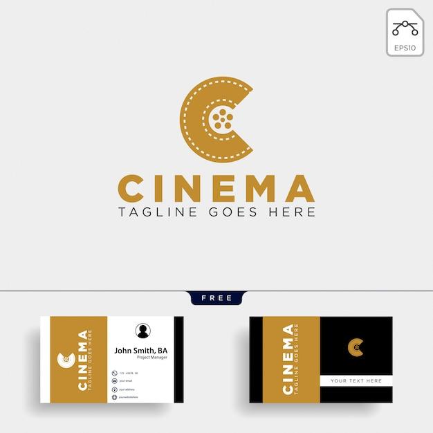 Logoschablonenvektorillustrations-ikonenelement der minimalen schwarzen farbe des buchstaben c einfache lokalisiert Premium Vektoren
