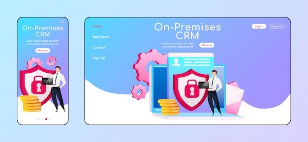 Lokale crm adaptive homepage Premium Vektoren