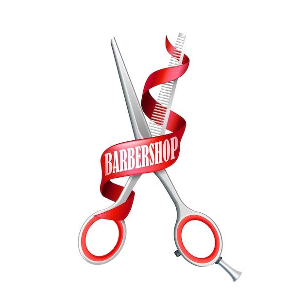 Lokalisierte barbershop-zusammensetzung Kostenlosen Vektoren