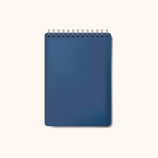 Lokalisierter vektor der spirale blaues notizbuch modell Kostenlosen Vektoren