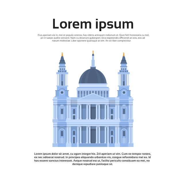 London dom englisch church dome Premium Vektoren