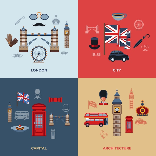 London-symbole Premium Vektoren